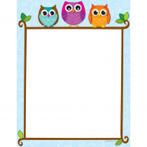 CD-118118 - Colorful Owls On A Branch Computer Paper in Design Paper/computer Paper