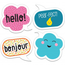 CD-120209 - School Pop Happy Talk Cut Outs in Accents