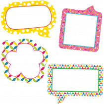 CD-120212 - School Pop Small Speech Bubbles Cut Outs in Accents