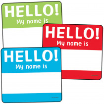 CD-120224 - Colorful Cutouts Hello Tags Asst Designs in Name Tags