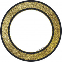 CD-120244 - Gold Glitter Dots Cut Outs Sparkle And Shine in Accents