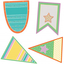 CD-120523 - Pennants Cutout Asst Gr Pk-5 in Accents