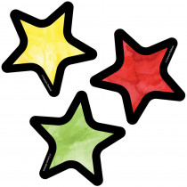 CD-120538 - Celebrate Mini Colorful Cutout Star Learning in Accents