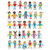 All Are Welcome Kids Cut-Outs, Pack of 36 - CD-120625   Carson Dellosa Education   Accents
