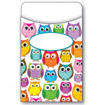 CD-121011 - Colorful Owls Library Pockets in Library Cards