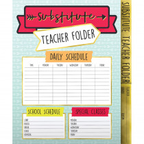 CD-136020 - Aim High Substitute Teacher Folder in Folders