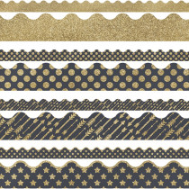 CD-145099 - Gold Scalloped Borders Set Sparkle And Shine in Border/trimmer