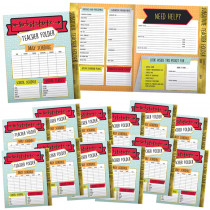 CD-145102 - Substitute Teacher Folder 24 Pk Aim High in Folders
