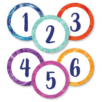 CD-149002 - Marble Swirl Magnetic Numbers Galaxy in Magnetic Letters