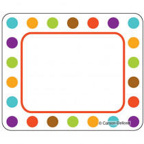 CD-150025 - Calypso Name Tags Bold Polka Dots in Name Tags