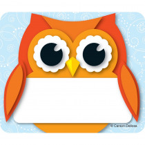 CD-150036 - Colorful Owl Name Tags in Name Tags