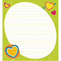 CD-151087 - Bright Hearts Shape Notepad Gr Pk-8 in Note Pads