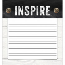 CD-151300 - Industrial Chic Shiplap Notepad School Girl Style in Note Pads