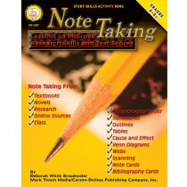 CD-1597 - Note Taking Lessons To Improve Research Skills & Test Gr 4-8& Up in Language Arts