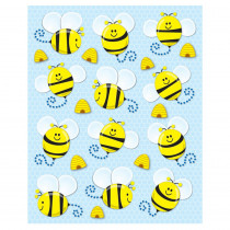 CD-168019 - Bees Shape Stickers 72Pk in Stickers