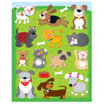 CD-168031 - Dogs & Cats Shape Stickers 78Pk in Stickers