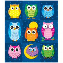 CD-168052 - Colorful Owls Prize Pack Stickers in Stickers