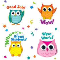 CD-168144 - Colorful Owl Motivators in Stickers