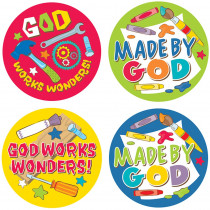 CD-168163 - God Works Wonders Stickers in Inspirational