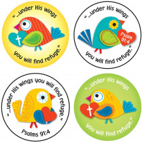 CD-168165 - Under His Wings Stickers in Inspirational
