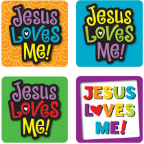 CD-168166 - Jesus Loves Me Stickers 120 Pc in Inspirational