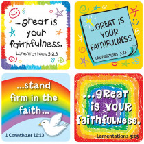 CD-168169 - Faith Verses Stickers in Inspirational