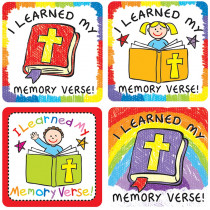 CD-168171 - I Learned My Memory Verse Stickers 120 Pc in Inspirational