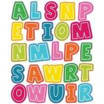 CD-168204 - School Pop Alphabet Uppercase Shape Stickers in Stickers