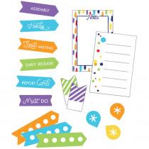 Sparkle + Shine Rainbow Planner Accents Sticker Pack, 252 Pieces - CD-168293 | Carson Dellosa Education | Stickers