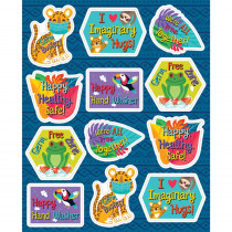 One World Germ Busters Shape Stickers, Pack of 72 - CD-168303 | Carson Dellosa Education | Stickers