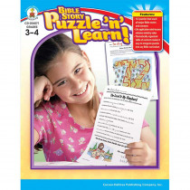 CD-204071 - Bible Story Puzzle N Learn Gr 3-4 in Inspirational
