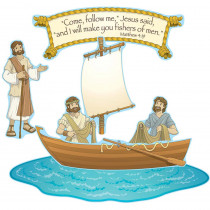 CD-210026 - Fishers Of Men Bulletin Board Set in Inspirational