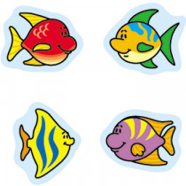 CD-2163 - Chart Seals Fish 810/Pk Acid & Lignin Free in Stickers