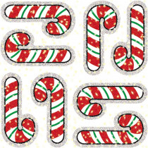CD-2936 - Dazzle Stickers Candy Canes 75-Pk Acid & Lignin Free in Holiday/seasonal