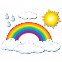 CD-3200 - Bulletin Board Set Big Rainbow 44 X 25-1/2 in Classroom Theme