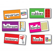 CD-3266 - Bb Set Print-Rich Classroom Labels 56 Illustrated Word Cards in Miscellaneous