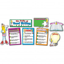 CD-3284 - Bulletin Board Set Traits Of Good 17 Pcs Gr K-8 Writing in Language Arts