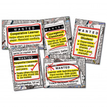 CD-3441 - Bulletin Board Set Wanted Good Character Gr 4-8 in Social Studies