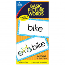 CD-3908 - Flash Cards Basic Picture Words 6 X 3 in Sight Words