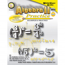CD-404043 - Algebra Ii Practice in Algebra
