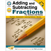 CD-404183 - Adding And Subtracting Fractions Gr 5-8 in Fractions & Decimals