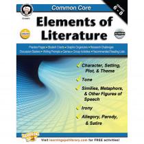 CD-404215 - Common Core Elements Of Literature Book Gr 6-8 in Literature Units