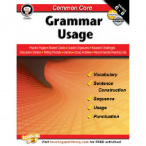 CD-404219 - Gr 6-8 Common Core Grammar Usage Book in Grammar Skills