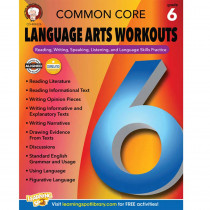 CD-404226 - Gr 6 Common Core Language Arts Workouts in Reading Skills