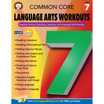 CD-404227 - Gr 7 Common Core Language Arts Workouts in Reading Skills
