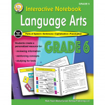 CD-405027 - Language Arts Workbook Gr 6 Interactive Notebook in Reference Books