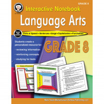 CD-405029 - Language Arts Workbook Gr 8 Interactive Notebook in Reference Books