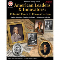 CD-405034 - Colonial Times To Reconstruc Workbk American Leaders & Innovators in History
