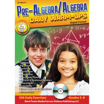 CD-405177 - Pre Algebra & Algebra Daily Warm Ups Cd Rom in Math