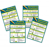 CD-410083 - Fractions Bulletin Board Set in Math